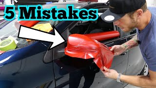 5 Most Common Vinyl Wrap Mistakes