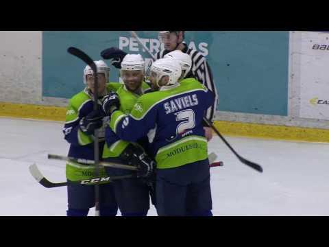 Hokejs - 1.finālspēle Mogo V Kurbads      3 - 1   Sērijā 1 - 0