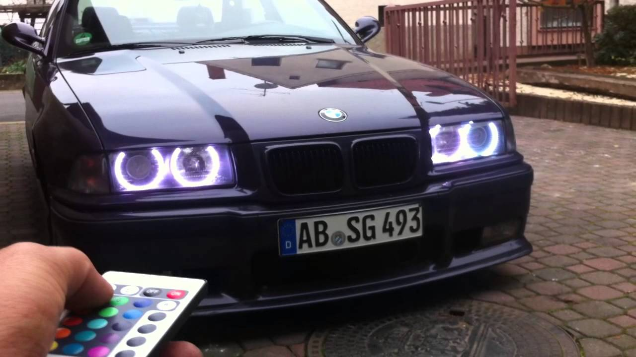Bmw E36 Multi Color Angle Eyes Ringe Farbig