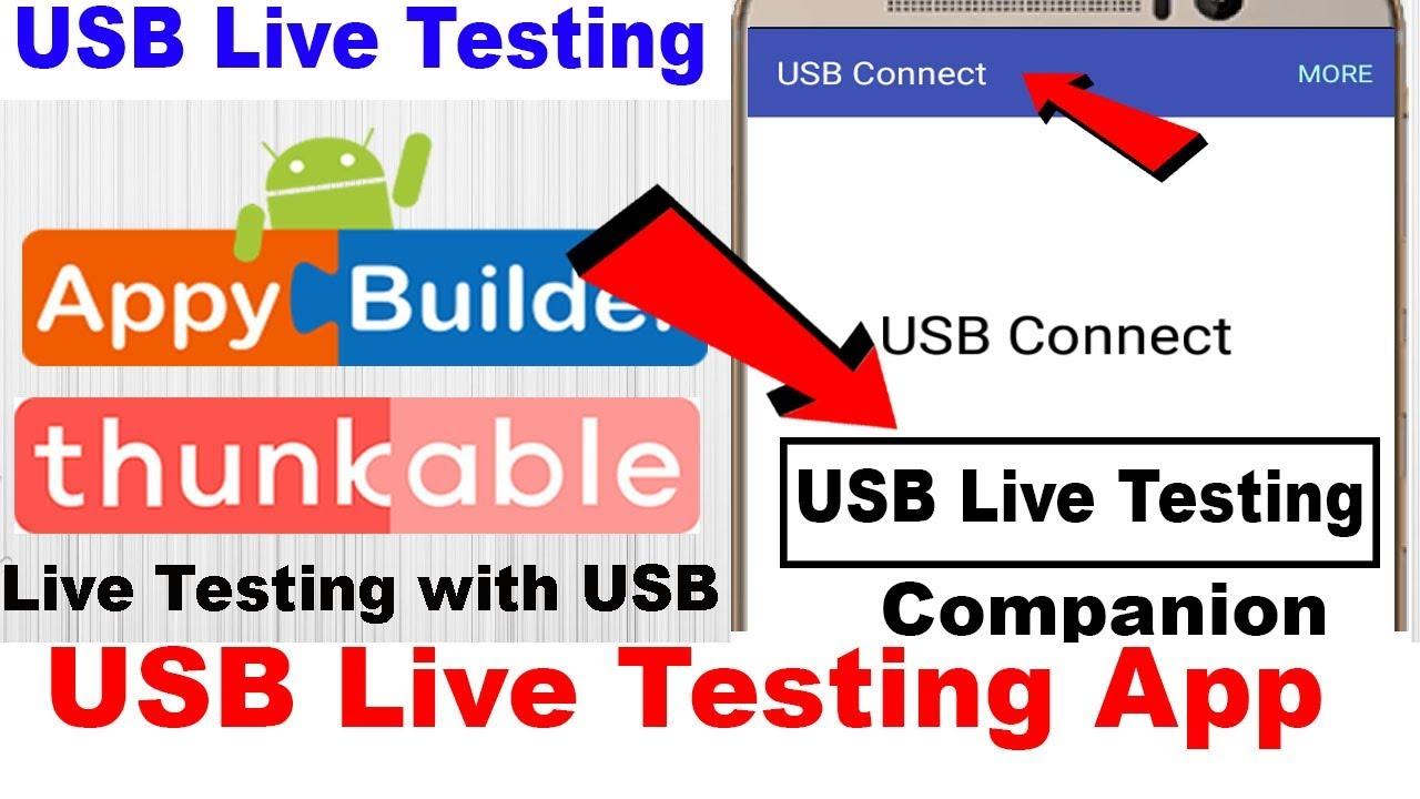 USB Live Testing Companion | USB Connection | Thunkable