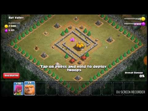 Clash Of Clans Single Player(Rat Valley)