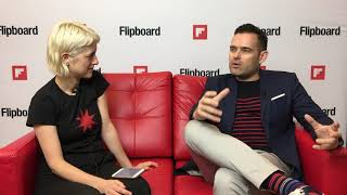 Emmy winner David Beebe on the Flipboard Red Couch at Content Marketing World 2017
