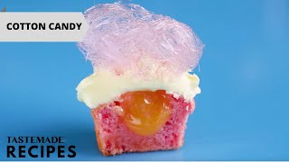 Handmade Pink Lemonade Cotton Candy Is the Best Cupcake Topping