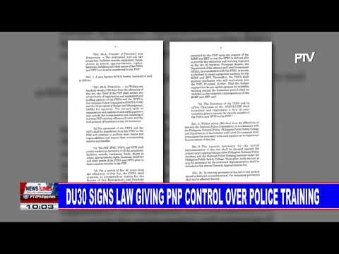 PRRD signs law giving PNP control over police training
