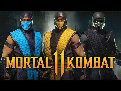 MORTAL KOMBAT 11 - NEW Klassic Arcade Ninja Skin Pack Gameplay W/ ALL Skins! (Kombat Pack DLC)