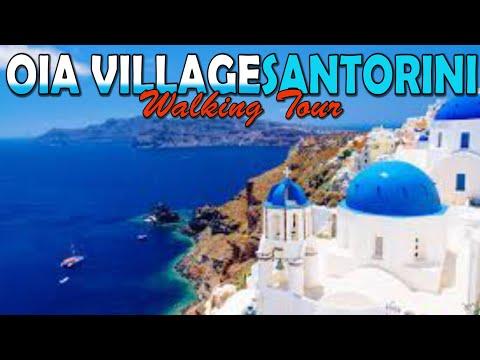Santorini Oia Village walk around with GoPro 6 - Greece (4K)
