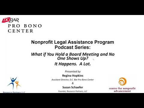 Nonprofit Program Podcast Series - When Board Members Don't Attend Meetings