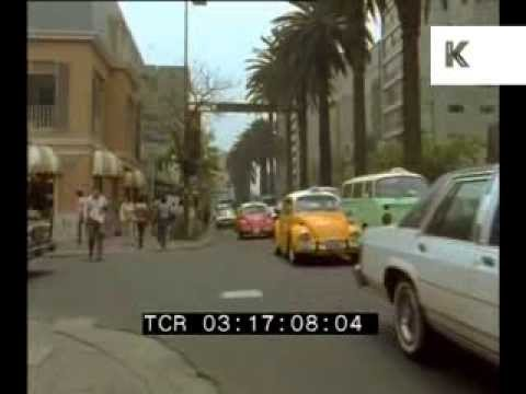 1985 Mexico City Roads and Cars - Rare 35mm Footage