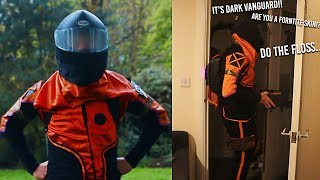 Answering the door to 'Trick-or-Treaters' in my Real Life Fortnite Skin... (Fortnite Skin in IRL)