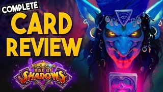 ⭐ALL⭐ 135 RISE OF SHADOWS CARDS REVIEWED BY DISGUISED TOAST! | Hearthstone