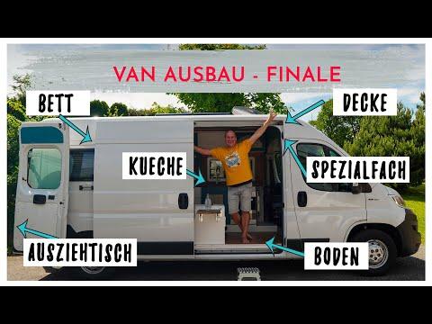 YEES wird sind fertig! Das VAN AUSBAU Finale: Unser BETT & KÜCHE + ein paar CampervanHACKS!