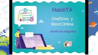 Taller virtual de OneDrive y Word Online