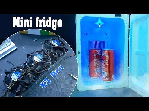 Chế Tủ Lạnh Mini 12v Từ Sò Nóng Lạnh Và Bộ Tản Nhiệt Intel x3 Pro