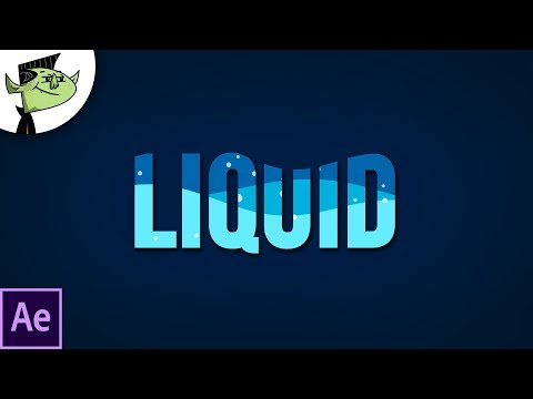 Liquid Water Text Reveal in After Effects Tutorial