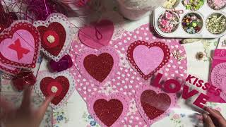 #3 Valentine's Day💘Series 2019 - DIY Layered Heart Embellishments from Dollar Tree