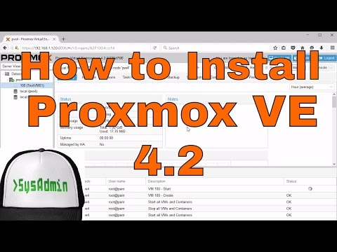 How to Install Proxmox VE 4.2 (Virtual Environment) + Review + VMware Tools on VMware Workstation