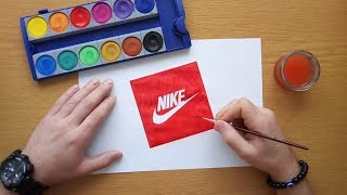 How to draw a classic Nike logo