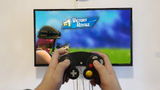 Noob Gets A Victory Royale On Fortnite With A Gamecube Controller