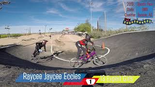 13 Expert Girls Raycee Jaycee Eccles/2019 Sports Park BMX State Qualifier