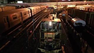 the Coney Island train yard