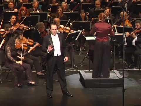 """Gregory Schmidt sings """"La Donna e' Mobile""""- Orchestra Miami, Elaine Rinaldi conductor"""