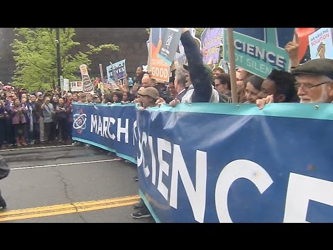Scientists Strike Against Budget Cuts in Washington D.C.