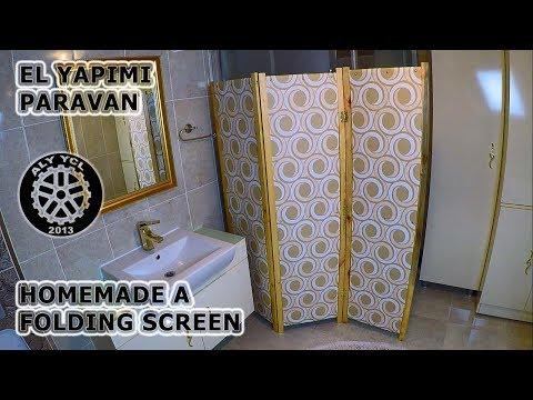 El yapımı paravan - Homemade a folding screen