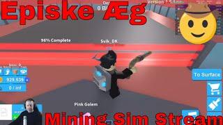 Episk Æg - Mining simulator - Roblox stream