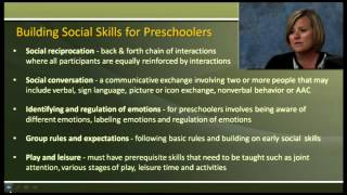 Pre-K is more than play! Social skills training for preschoolers with ASD