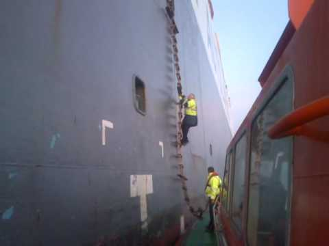 Tyne Pilot Russell Carnelley Boarding Nissan Car Carrier