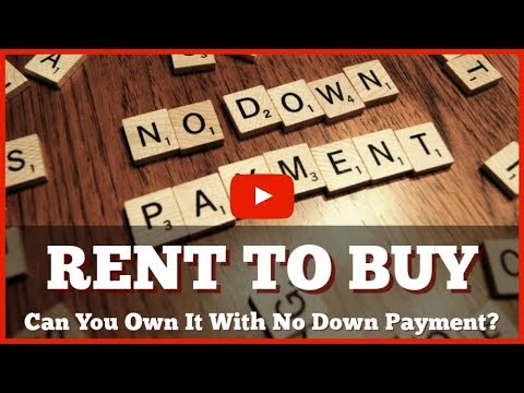 Can You Own A Rent To Buy Toronto House With No Down Payment?