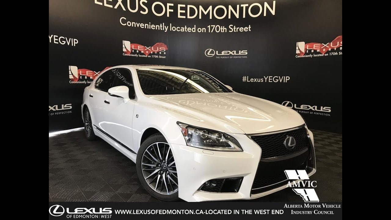 Executive Demo White 2017 Lexus Ls 460 F Sport Package Review St Albert Ab
