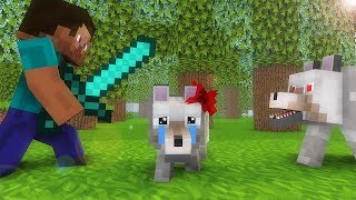 Wolf Life 1-3  - Minecraft animation