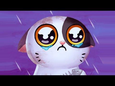 Видео для детей про милого котенка Мимитос 2. Нашла брошенного котика в игре