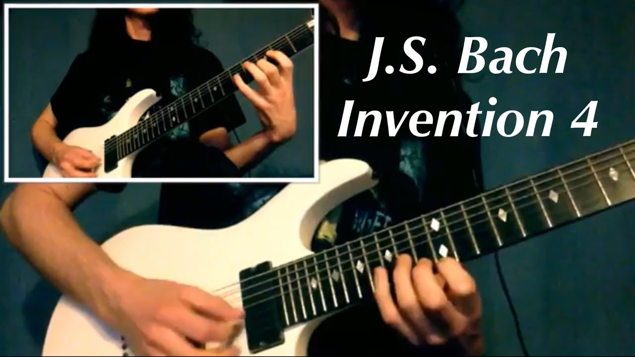Bach Invention 4 D Minor Metal Electric Guitar Version - YouTube