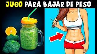 """👉""""Jugo Verde"""" para BAJAR DE PESO, Adelgaza 2 Kl en 1 Semana Y Quema la grasa Rápidamente"""