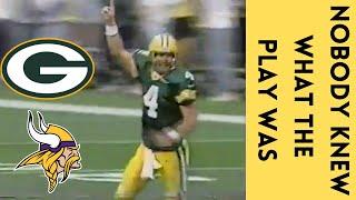Brett Favre's CRAZIEST Touchdown Pass | Vikings @ Packers (1999)