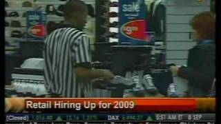 Retail Hiring Up For 2009 - Bloomberg