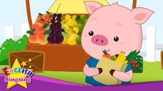 This Little Piggy - This Little Pig - Finger play - Animal Nursery Rhyme - Kids song with lyrics