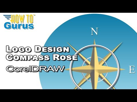 how to draw a compass rose youtube