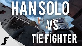 HAN SOLO vs TIE FIGHTER - Star Wars Battlefront