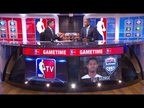GameTime:  Paul George's Horrific Leg Injury |  USAB Scrimmage |  August 1, 2014
