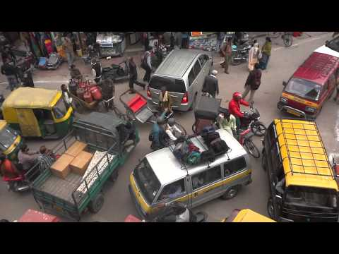 This is The Real Indian Traffic Congestion Traffic Jam At A Junction