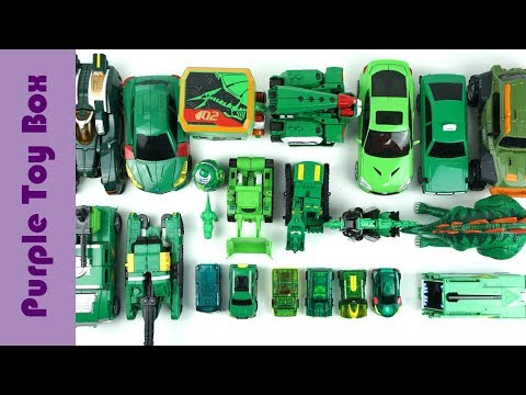 26x Green Transformer Robot Car Dinosaur Toys