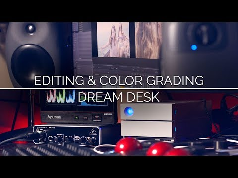 My Desk Tour - Ultimate Filmmaking Editing Station 2018