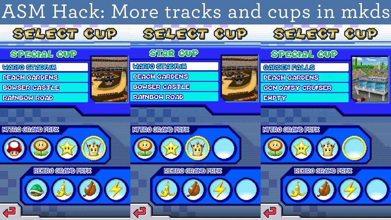 Asm Hack More Tracks Ands Cups In Mkds Version 1 1 With