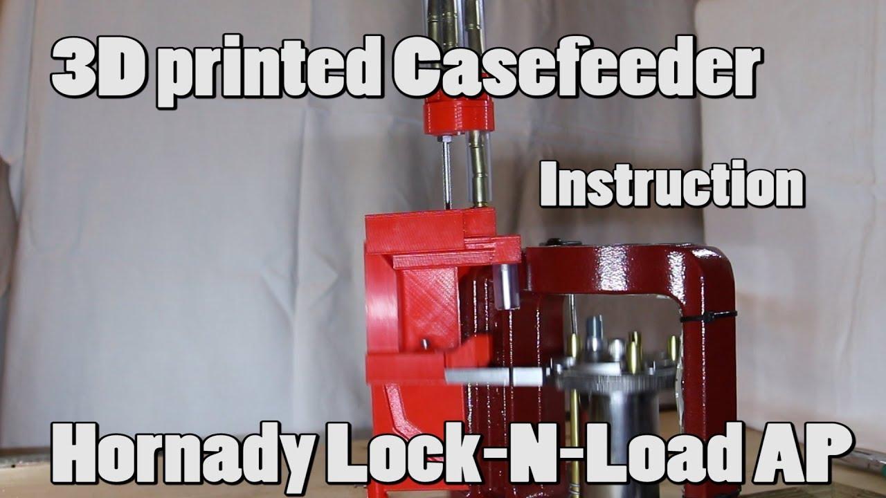 3d printed casefeeder hornady lock n load ap setup manual for Modelli case 3d