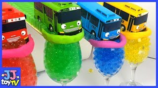 Little Bus Tayo And Color Orbeez Ball Play With  Magic Track Toys. [Jjtoy Tv]