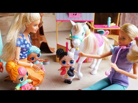 LOL SURPRISE DOLLS Bring Harper's Pony To The Animal Doctor!