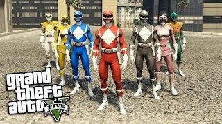 Video GTA 5 Mods - POWER RANGERS MOD w/ WEAPONS (GTA 5 Mods Gameplay) download MP3, 3GP, MP4, WEBM, AVI, FLV Oktober 2018